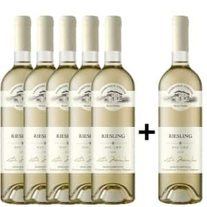 Vin alb demisec Domeniile Tohani Riesling, 0.75L, 5+1 sticle