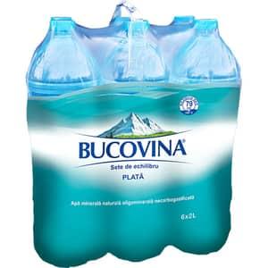 Apa plata BUCOVINA bax 2L x 6 sticle