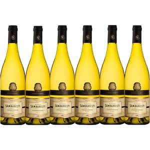 Vin alb sec Domeniile Samburesti Chardonnay, 0.75L, 6 sticle