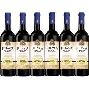 Vin rosu sec Domeniile Samburesti Feteasca Neagra, 0.75L, 6 sticle