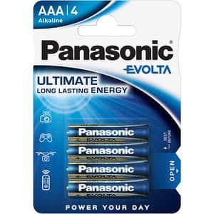 Baterii PANASONIC Evolta Alkaline LR03/AAA, 4 bucati