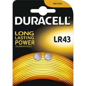 Baterii Alcaline DURACELL LR43, Long Lasting Power, 1.5V, 2 bucati