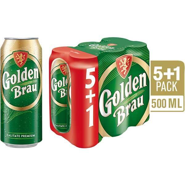 Bere blonda GOLDEN BRAU promo bax 0.5L x 6 cutii