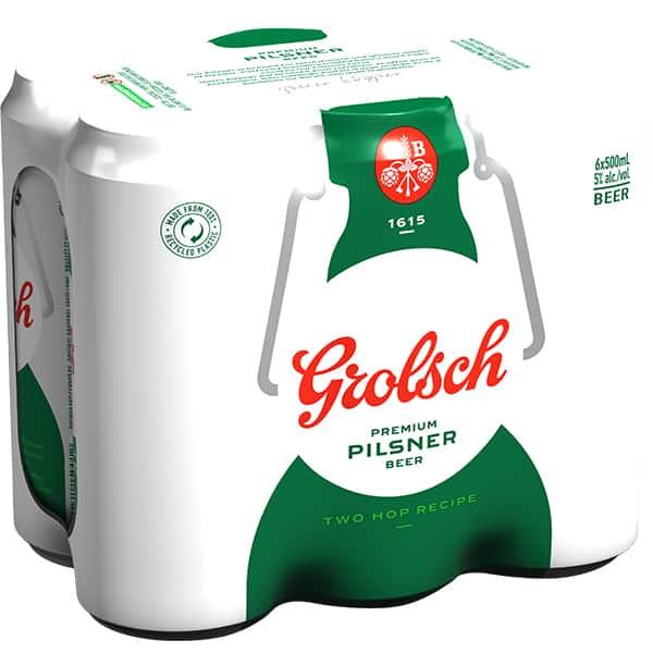 Bere blonda GROLSCH bax 0.5L x 6 cutii