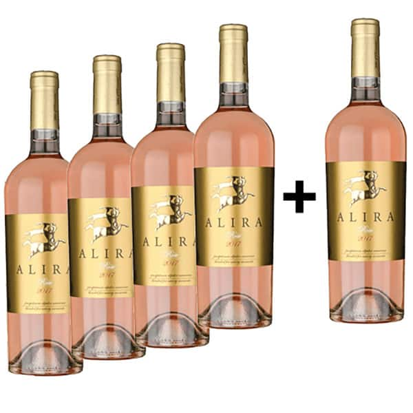 Vin rose sec Alira Rose, 0.75L, 4+1 sticle