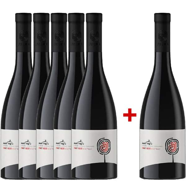 Vin rosu sec Dealu Negru Jelna Pinot Noir Wild Yeast 0.75L, 5+1 sticle