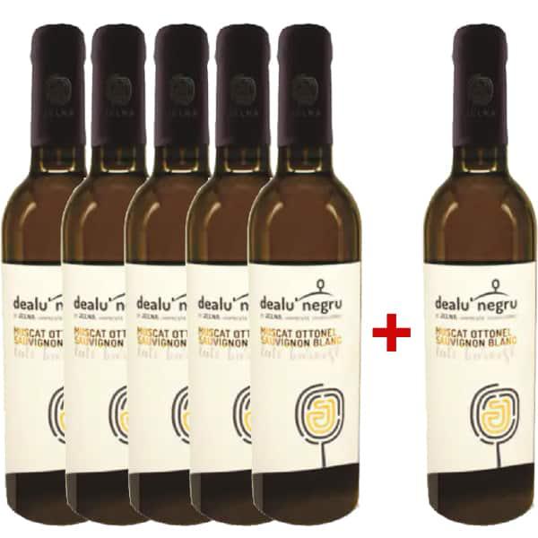 Vin alb demidulce Dealu Negru Jelna Late Harvest, 0.375L, 5+1 sticle