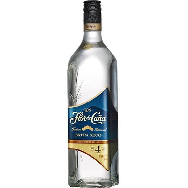 Rom FLOR DE CANA Extra Seco Blanco 4YO, 0.7L