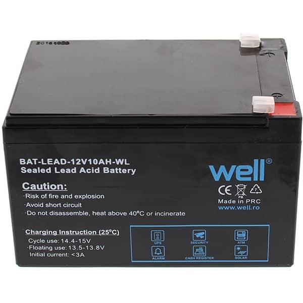 Acumulator plumb acid  WELL BAT-LEAD-12V10AH-WL, 12V, 10 Ah