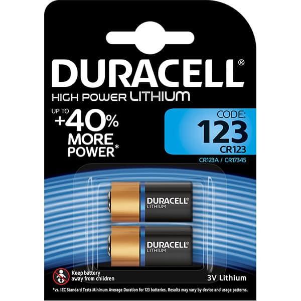 Baterii Litiu DURACELL CR123, 3V, 2 bucati