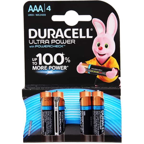 Baterii DURACELL AAAK4 Ultra Max, 4 bucati