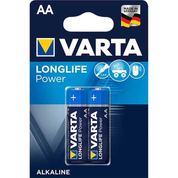 Baterii alcaline AA VARTA Longlife Power, 2 bucati