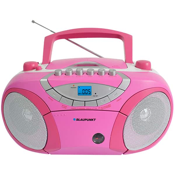 Radio CD portabil BLAUPUNKT Boombox BB15PK, FM/AM, USB, Caseta, roz