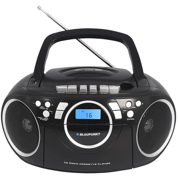 Radio CD portabil BLAUPUNKT Boombox BB16BK, FM, USB, Caseta, negru