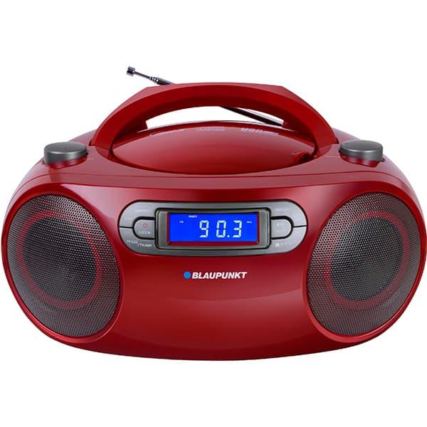 Radio CD portabil BLAUPUNKT Boombox BB18RD, FM, USB, rosu