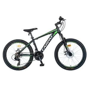 "Bicicleta MTB CARPAT C2499A, 24"", aluminiu, negru-verde"