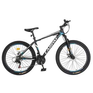 """Bicicleta de munte CARPAT C2658C, 26"""", cadru aluminiu, negru-alb -albastru"""
