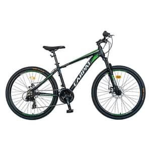 """Bicicleta MTB-HT CARPAT C2699A, 26"""", cadru aluminiu, negru-verde"""