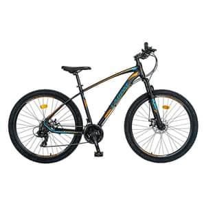 """Bicicleta de munte CARPAT C2757C, 27.5"""", cadru aluminiu, negru-portocaliu"""