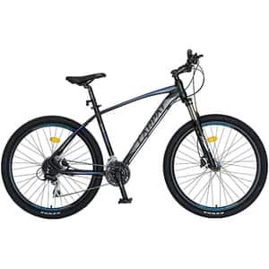 "Bicicleta MTB-HT CARPAT C2788HNA, 27.5"", cadru aluminiu, negru-albastru"