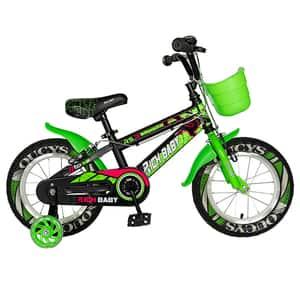 """Bicicleta copii RICH R14WTB, 14"""", verde"""