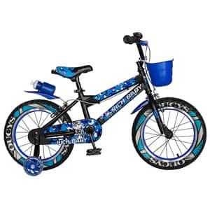 """Bicicleta copii RICH R16WTA, 16"""", negru-albstru"""