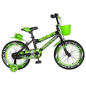 """Bicicleta copii RICH R16WTA, 16"""", verde-negru"""