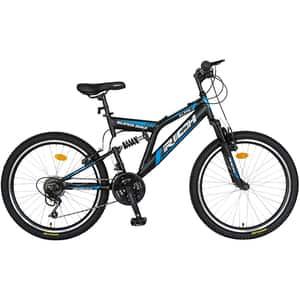 """Bicicleta MTB-FS RICH R2449ANA, 24"""", cadru otel, negru-albastru"""