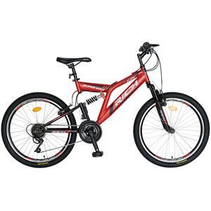 """Bicicleta MTB-FS RICH R2449ARN, 24"""", cadru otel, rosu-negru"""