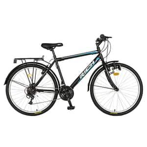 "Bicicleta de oras RICH R2635A, 26"", cadru otel, negru-albastru"