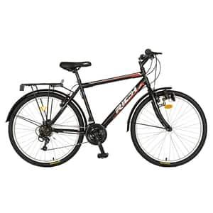 "Bicicleta de oras RICH R2635A, 26"", cadru otel, negru-rosu"