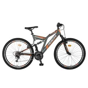 "Bicicleta MTB-FS RICH R2649AGN, 26"", cadru otel, gri-negru"