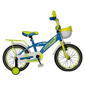 "Bicicleta copii RICH BABY TC-03, 16"", albastru-galben"