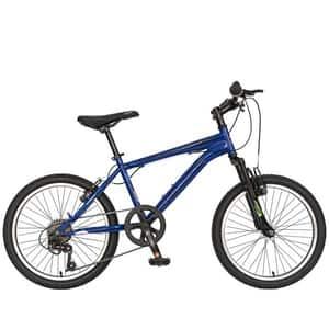 """Bicicleta MTB VELORS 2010A, 20"""", otel, albastru-negru"""