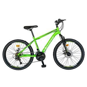 "Bicicleta de munte VELORS V2409A, 24"", cadru otel, verde-alb -negru"