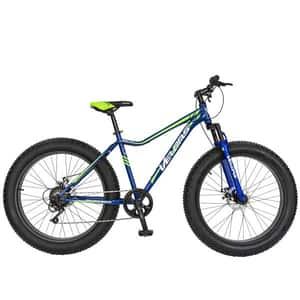 """Bicicleta FAT BIKE VELORS V2605A, 26"""", cadru otel, albastru-verde"""