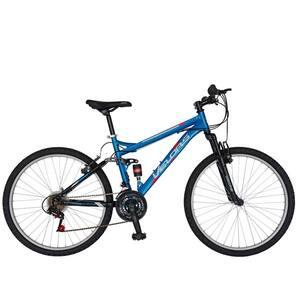 """Bicicleta Mountain Bike VELORS 2660A, 26"""", cadru otel, albastru-negru"""