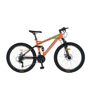 "Bicicleta MTB VELORS V2660D, 26"", otel, portocaliu-negru"