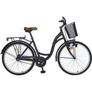 "Bicicleta City VELORS V2694ANM, 26"", cadru otel, negru-maro"