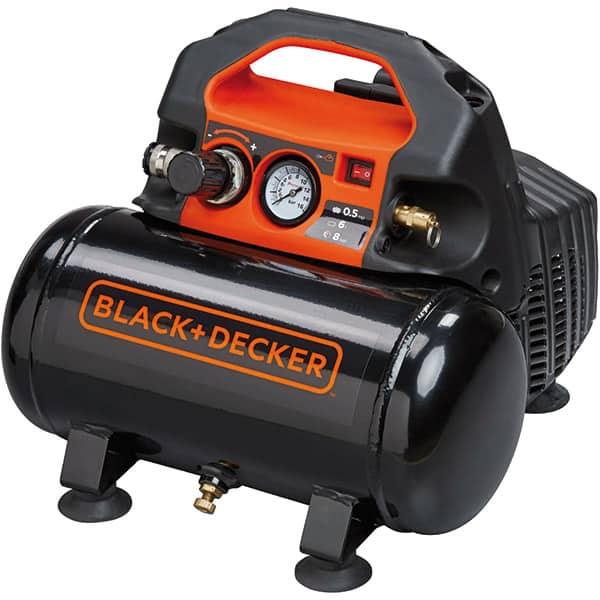 Compresor aer BLACK & DECKER BD 55/6, Electric, fara ulei, 6 litri, 1.5 CP, 8 Bar