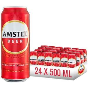 Bere blonda Amstel bax 0.5L x 24 cutii