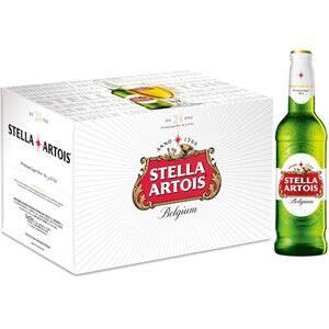 Bere blonda Stella Artois bax 0.33L x 24 sticle