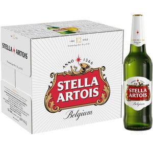 Bere blonda Stella Artois bax 0.66L x 12 sticle