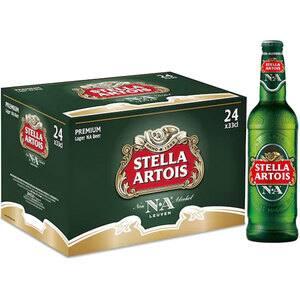 Bere blonda fara alcool Stella Artois bax 0.33L x 24 sticle