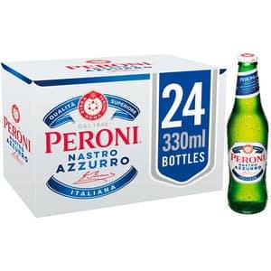 Bere blonda Peroni Nastro Azzurro 0.33L x 24 sticle