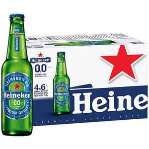 Bere blonda fara alcool Heineken bax 0.33L x 24 sticle