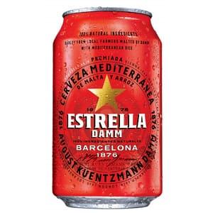 Bere blonda Estrella Damm bax 0.33L x 24 doze