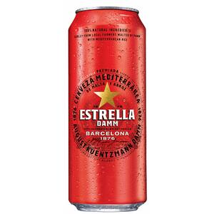 Bere blonda Estrella Damm bax 0.5L x 24 doze