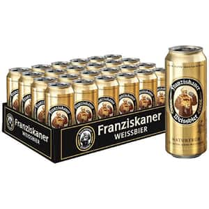Bere blonda nefiltrata Franziskaner Weissbier bax 0.5L x 24 doze