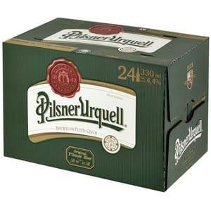 Bere blonda Pilsner Urquell bax 0.33L x 24 sticle